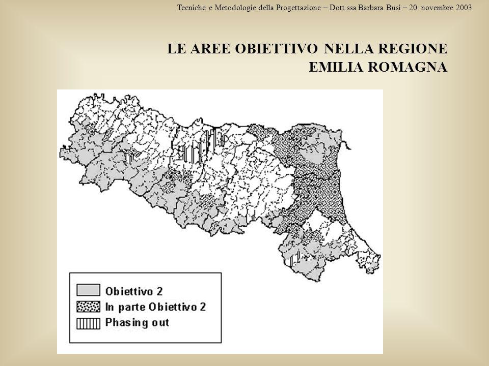 LE AREE OBIETTIVO NELLA REGIONE EMILIA ROMAGNA