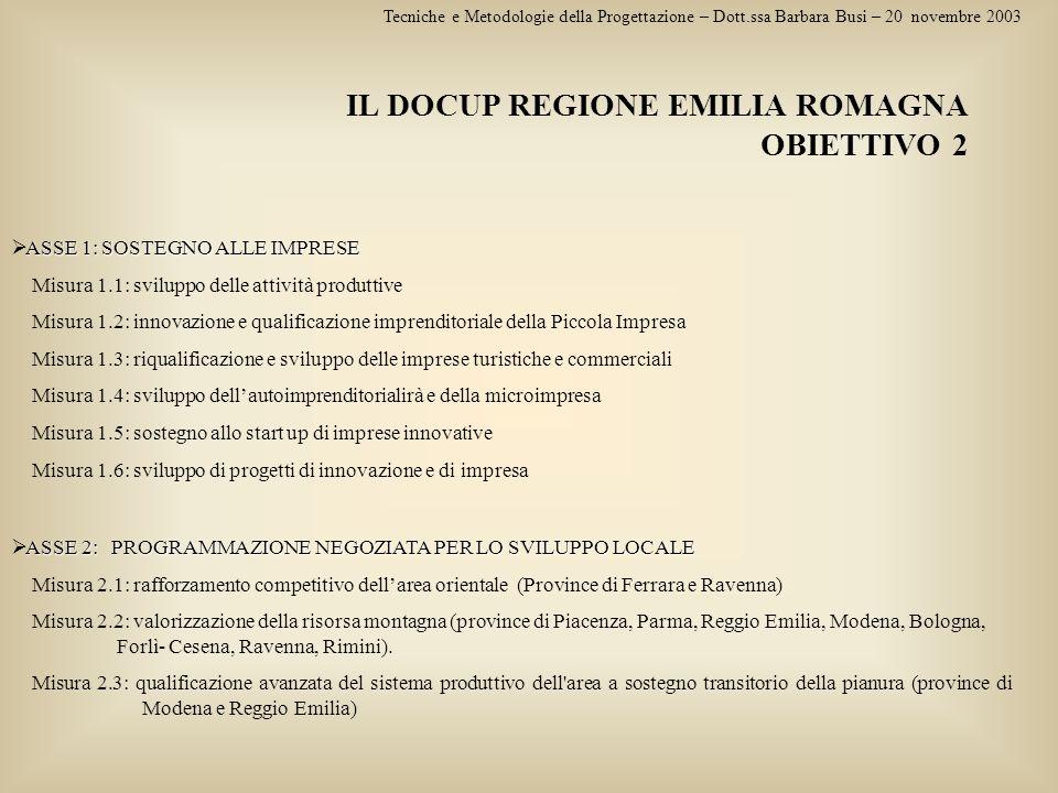 IL DOCUP REGIONE EMILIA ROMAGNA OBIETTIVO 2