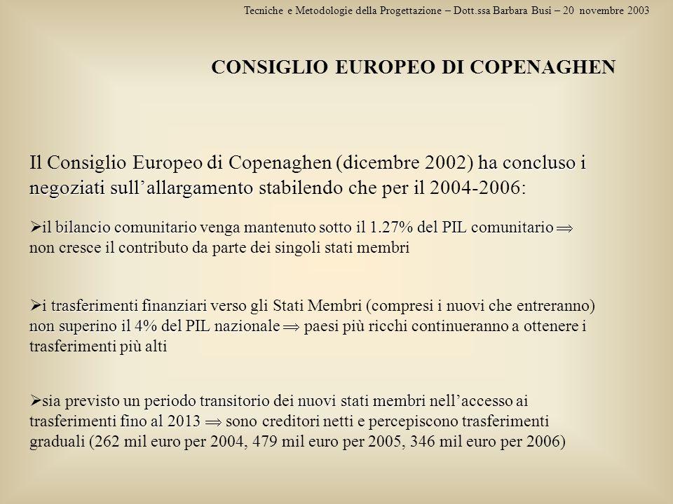 CONSIGLIO EUROPEO DI COPENAGHEN
