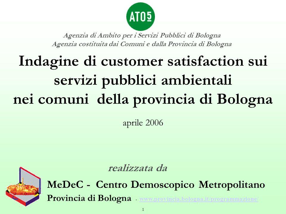 Indagine di customer satisfaction sui servizi pubblici ambientali