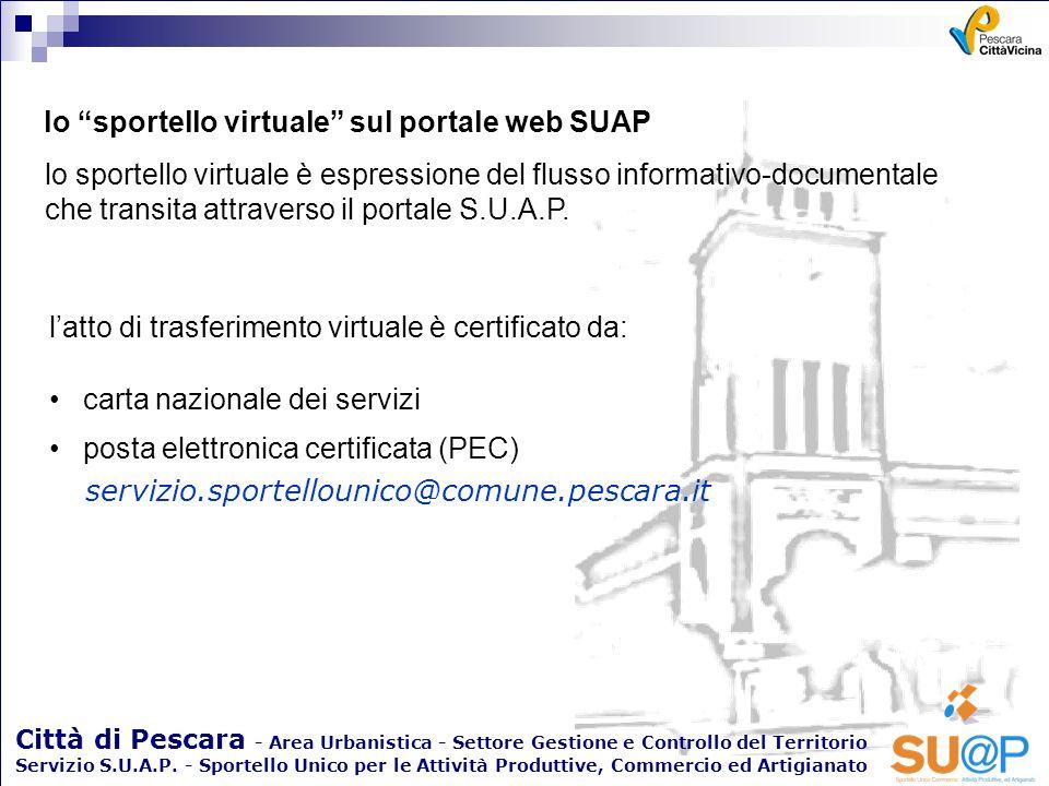 lo sportello virtuale sul portale web SUAP