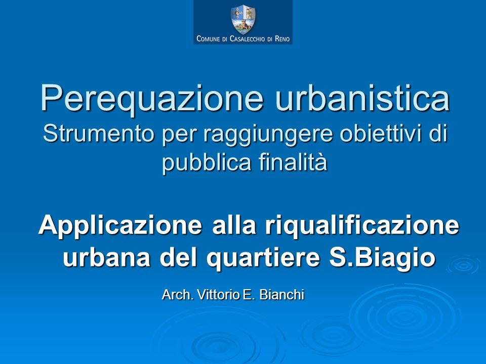 Perequazione urbanistica