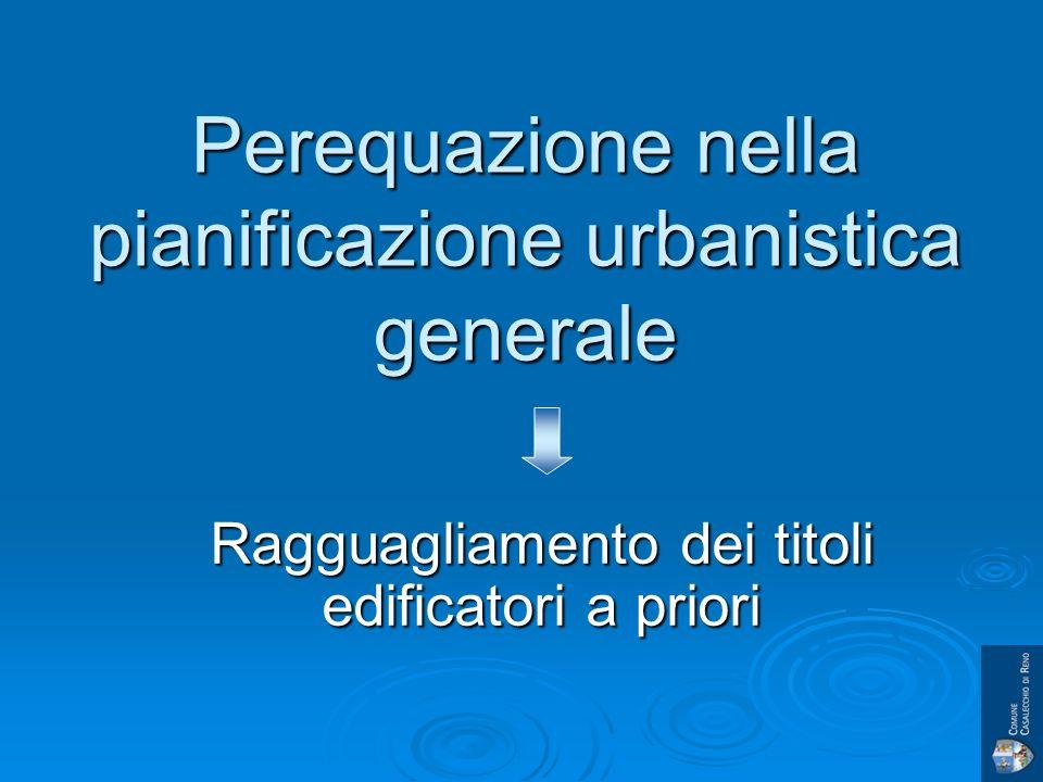 Perequazione nella pianificazione urbanistica generale