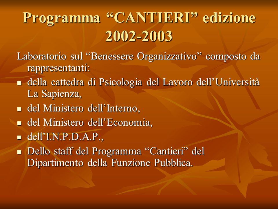 Programma CANTIERI edizione 2002-2003