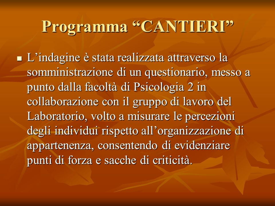 Programma CANTIERI