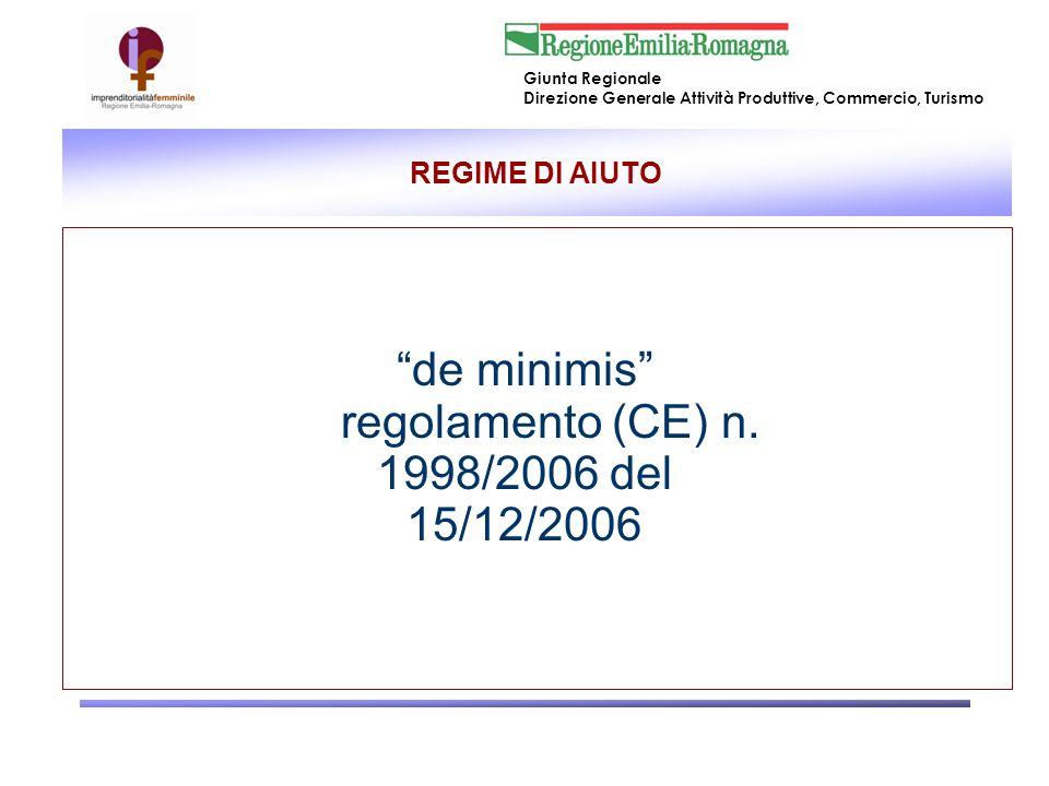 regolamento (CE) n. 1998/2006 del 15/12/2006
