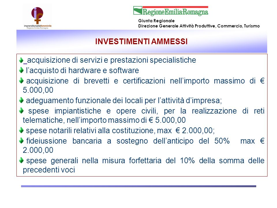 l'acquisto di hardware e software