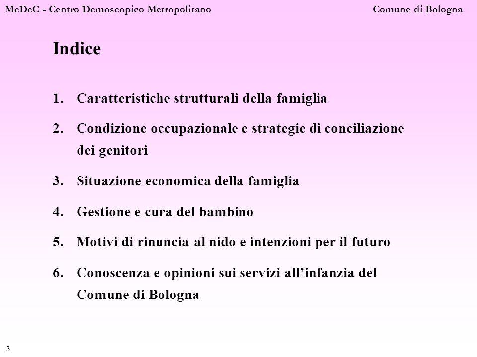 Indice Caratteristiche strutturali della famiglia