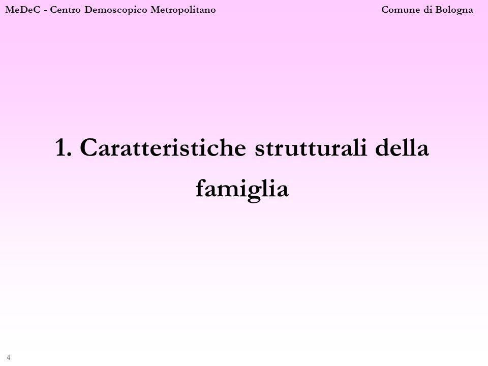 1. Caratteristiche strutturali della famiglia