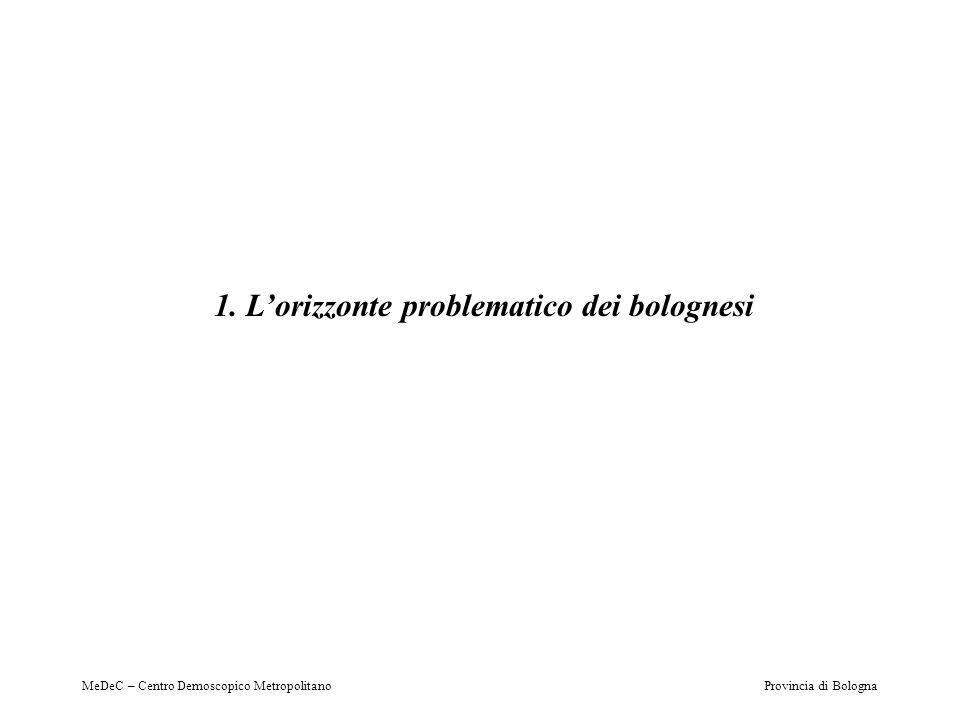 1. L'orizzonte problematico dei bolognesi