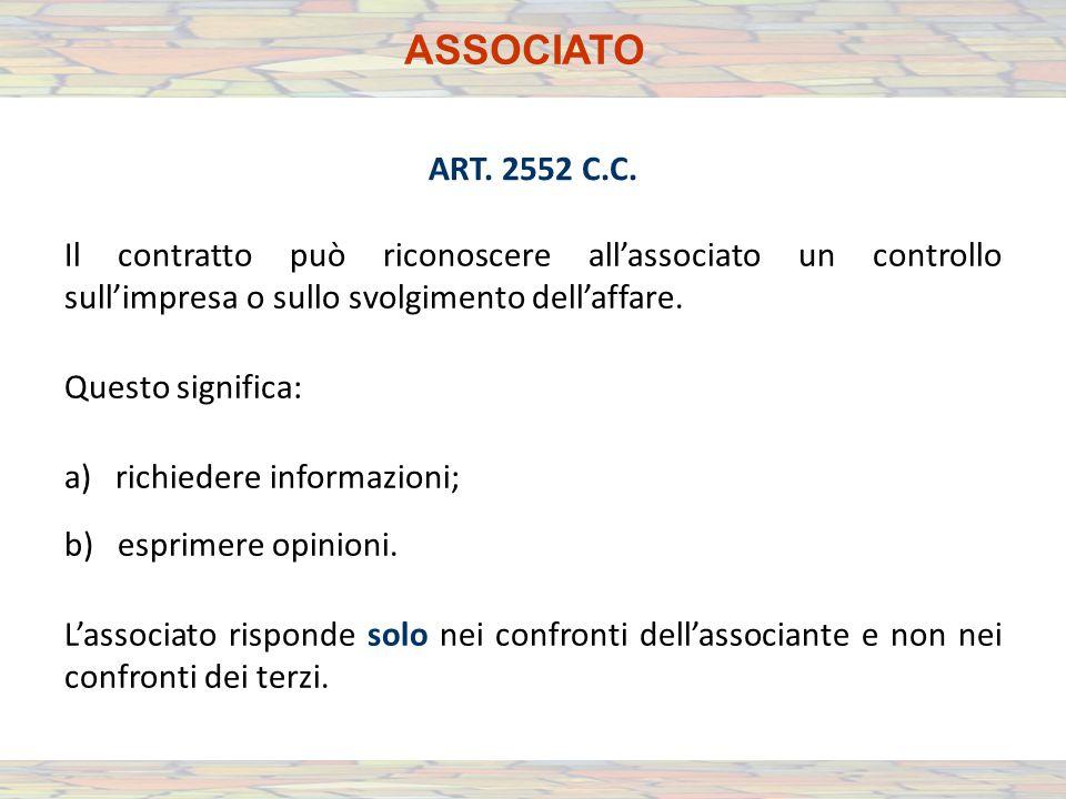 ASSOCIATO ART. 2552 C.C.