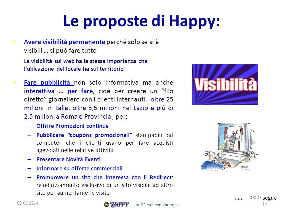 Le proposte di Happy: … >>> segue