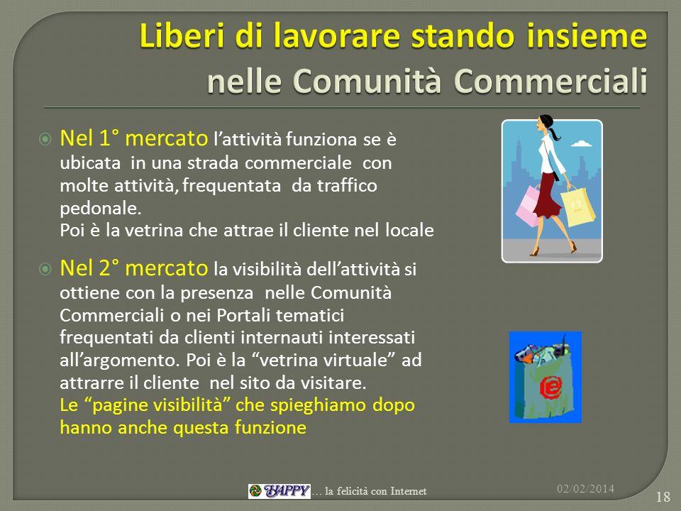 Liberi di lavorare stando insieme nelle Comunità Commerciali