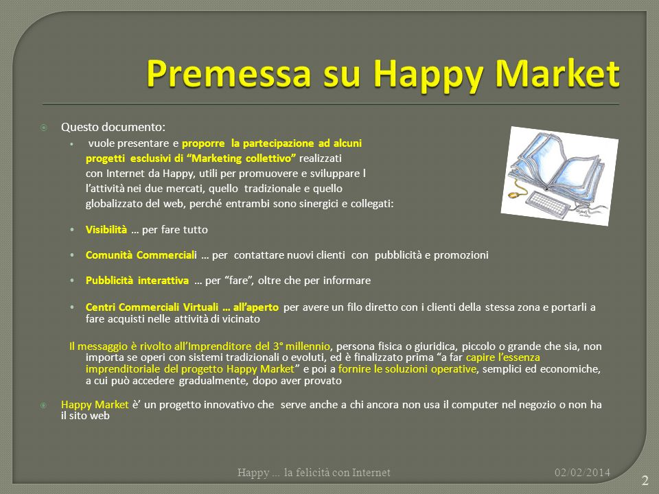 Premessa su Happy Market