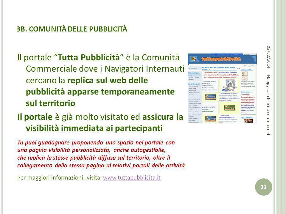 3B. COMUNITÀ DELLE PUBBLICITÀ