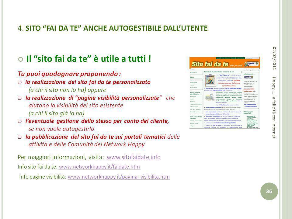 4. SITO FAI DA TE ANCHE AUTOGESTIBILE DALL'UTENTE
