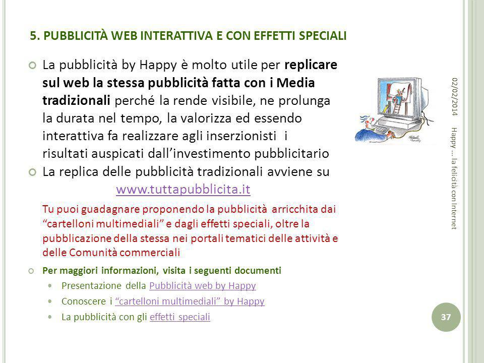 5. PUBBLICITÀ WEB INTERATTIVA E CON EFFETTI SPECIALI