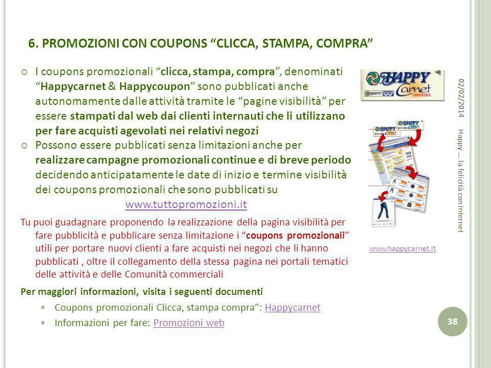 6. PROMOZIONI CON COUPONS CLICCA, STAMPA, COMPRA