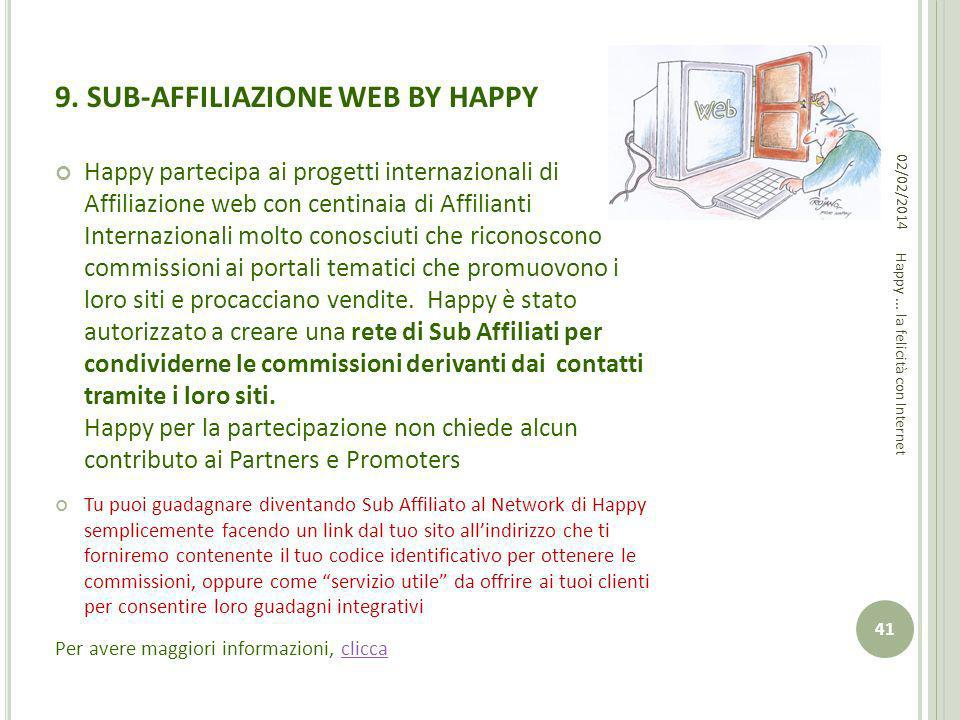 9. SUB-AFFILIAZIONE WEB BY HAPPY