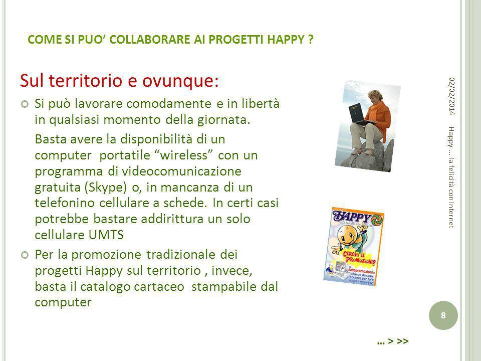 COME SI PUO' COLLABORARE AI PROGETTI HAPPY