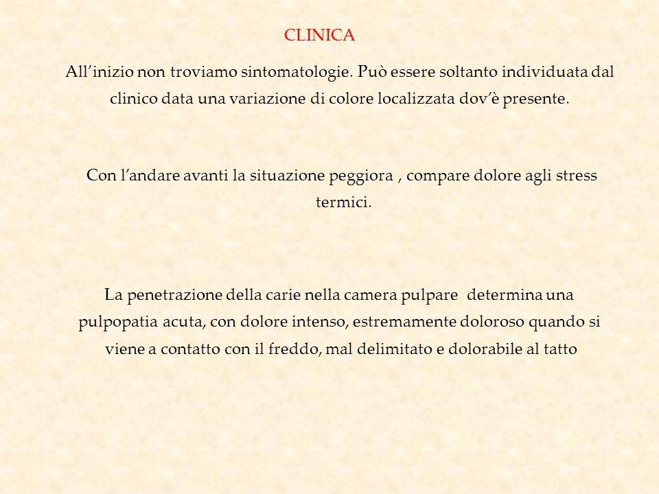 clinico data una variazione di colore localizzata dov'è presente.