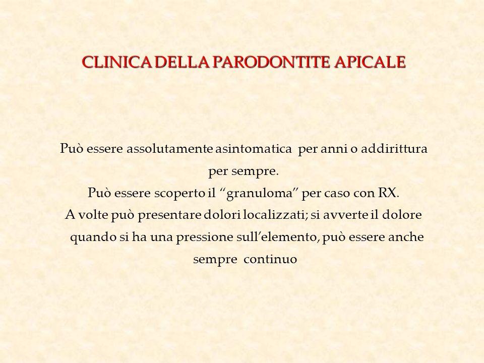 CLINICA DELLA PARODONTITE APICALE