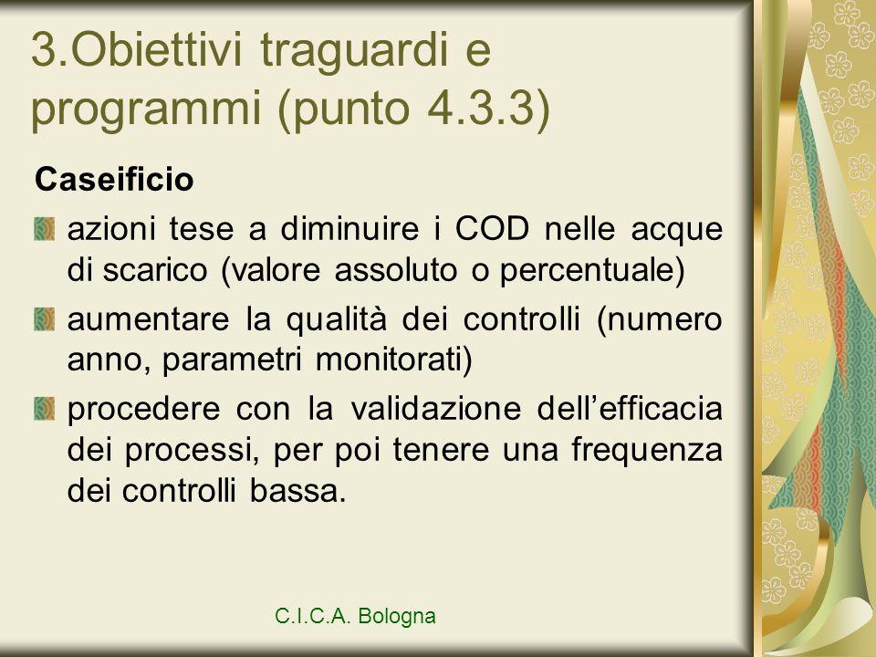 3.Obiettivi traguardi e programmi (punto 4.3.3)