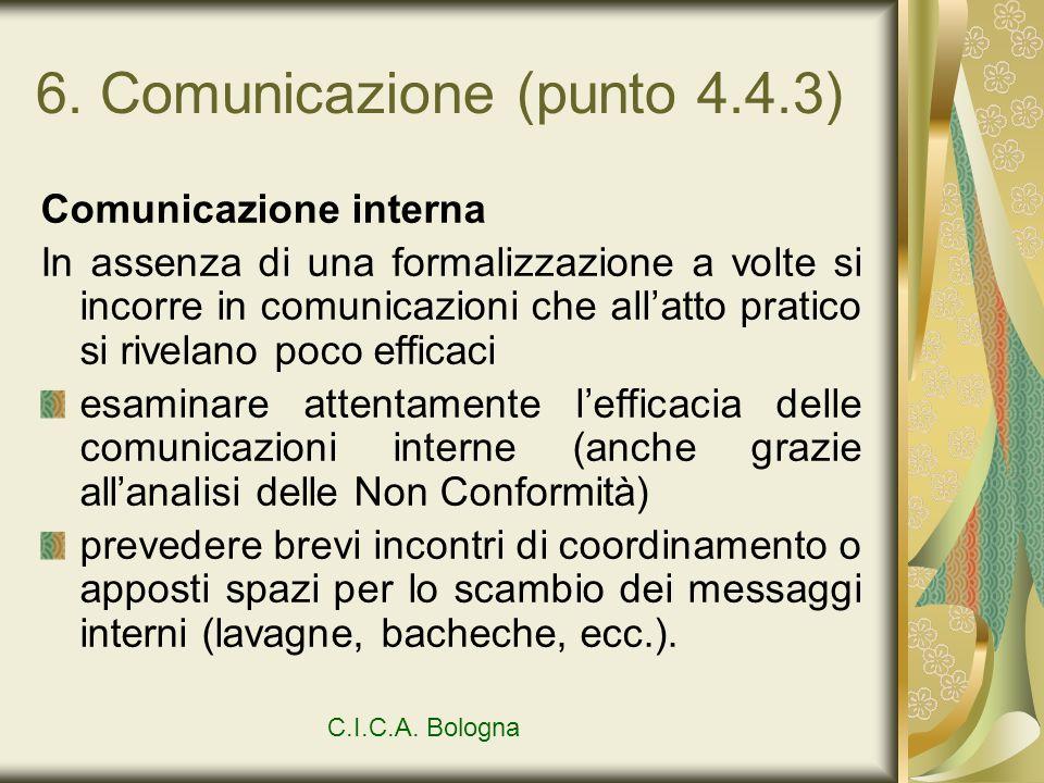 6. Comunicazione (punto 4.4.3)