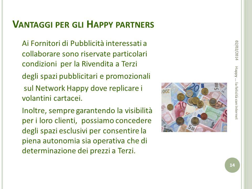 Vantaggi per gli Happy partners