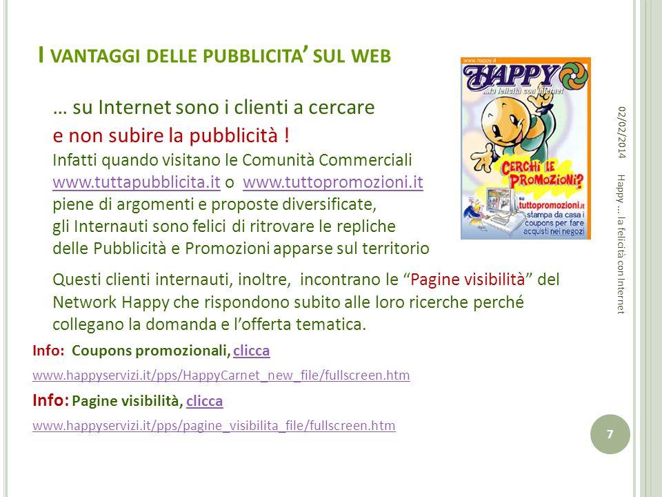 I vantaggi delle pubblicita' sul web