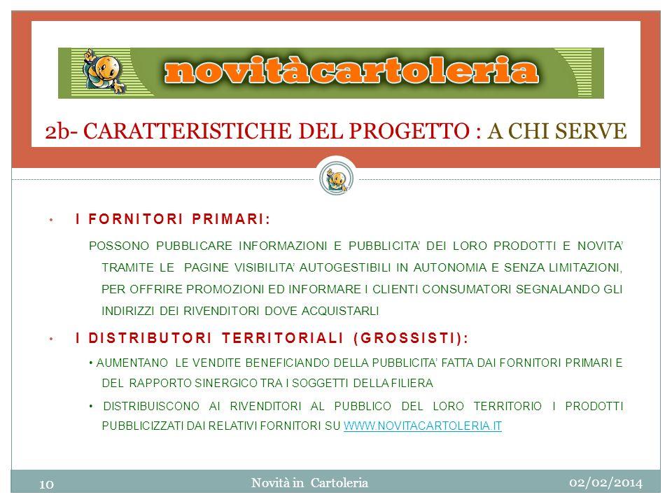 2b- CARATTERISTICHE DEL PROGETTO : A CHI SERVE