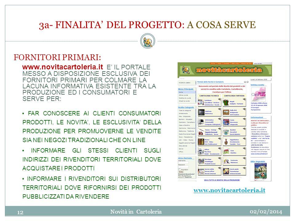 3a- FINALITA' DEL PROGETTO: A COSA SERVE