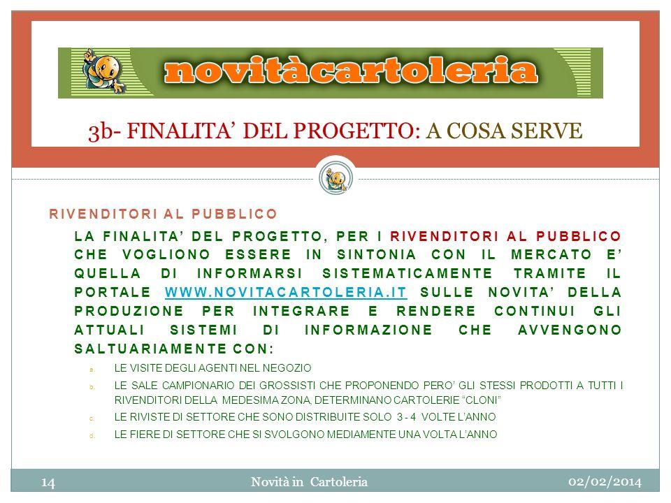 3b- FINALITA' DEL PROGETTO: A COSA SERVE