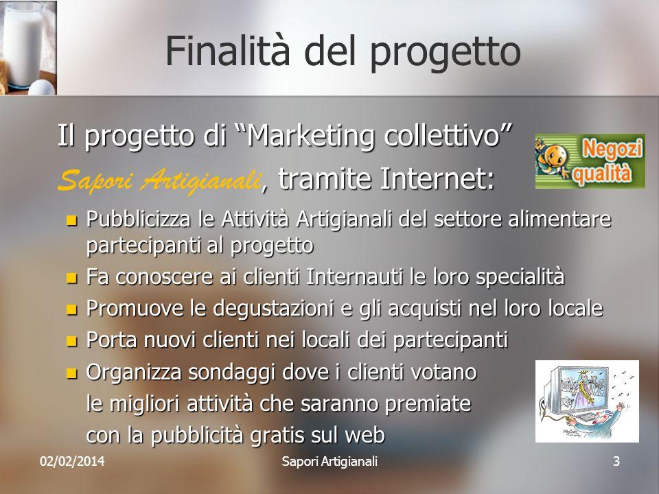 Finalità del progetto Il progetto di Marketing collettivo