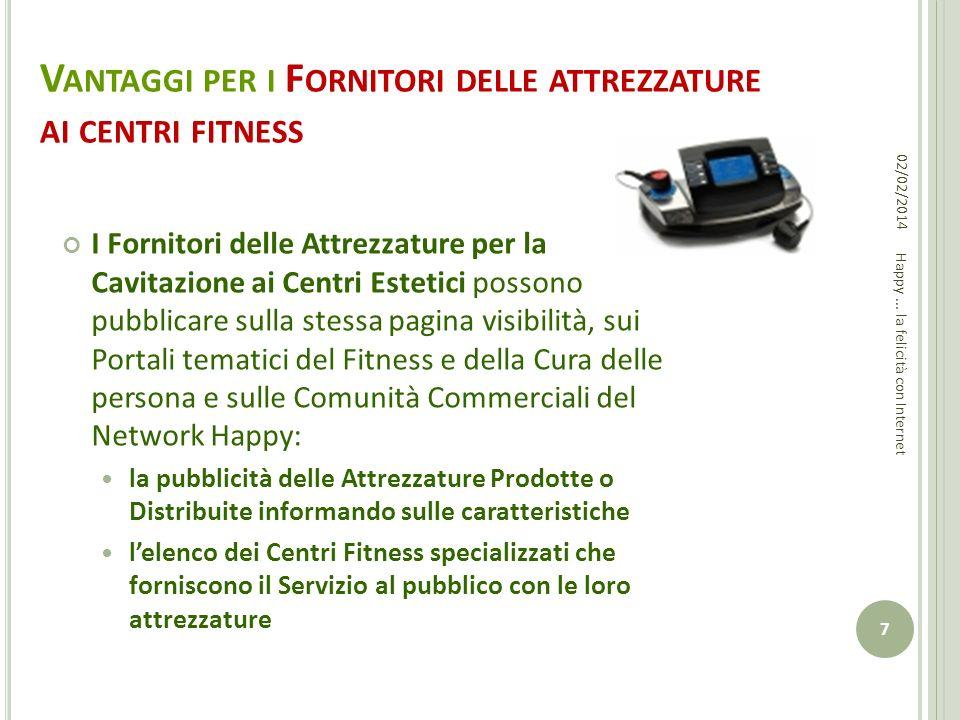 Vantaggi per i Fornitori delle attrezzature ai centri fitness