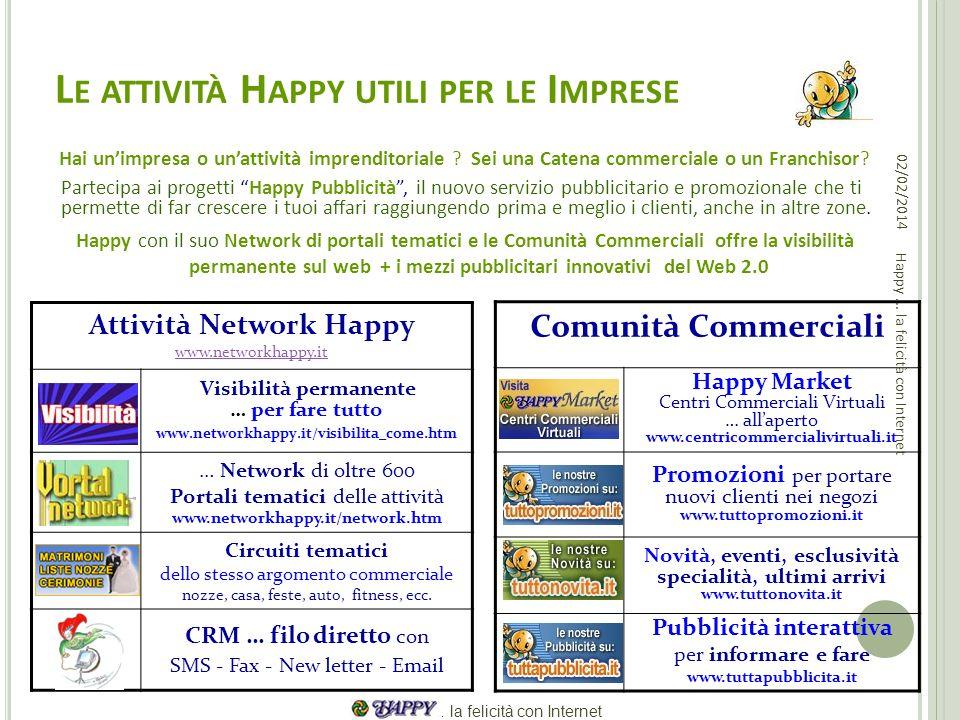 Le attività Happy utili per le Imprese