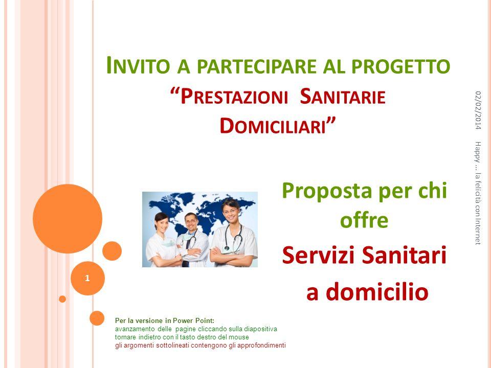 Invito a partecipare al progetto Prestazioni Sanitarie Domiciliari