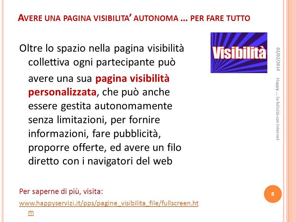 Avere una pagina visibilita' autonoma … per fare tutto