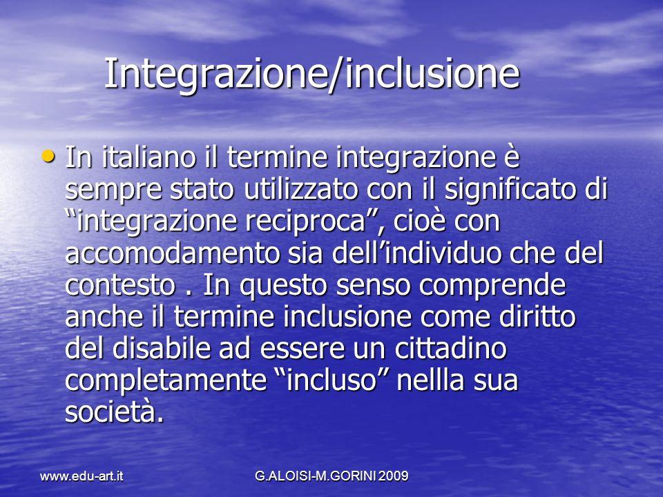 Integrazione/inclusione