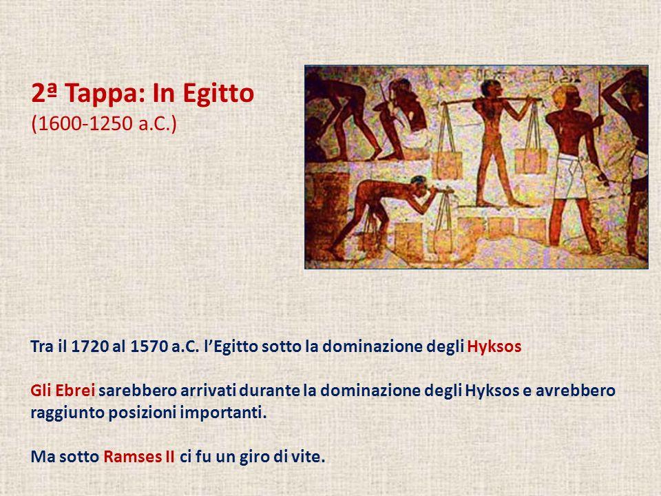 2ª Tappa: In Egitto (1600-1250 a.C.)