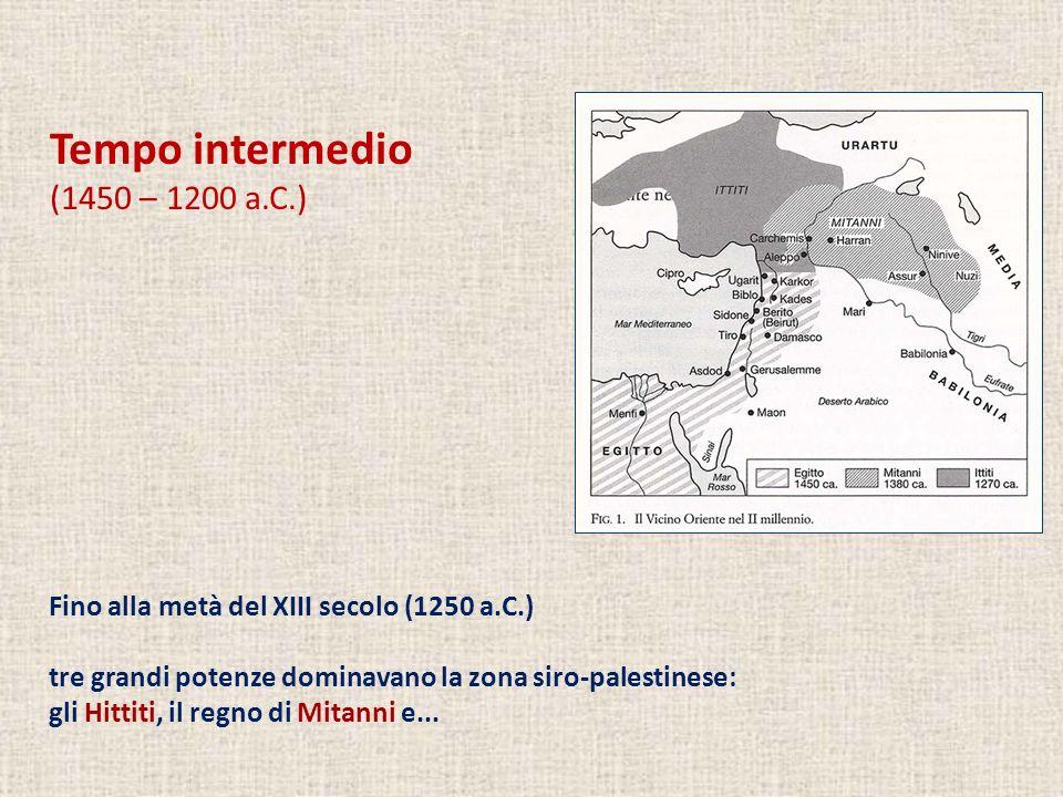 Tempo intermedio (1450 – 1200 a.C.)