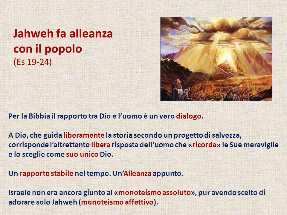 Jahweh fa alleanza con il popolo (Es 19-24)