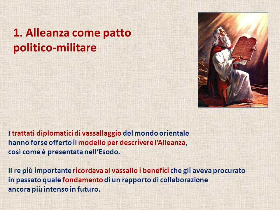 1. Alleanza come patto politico-militare