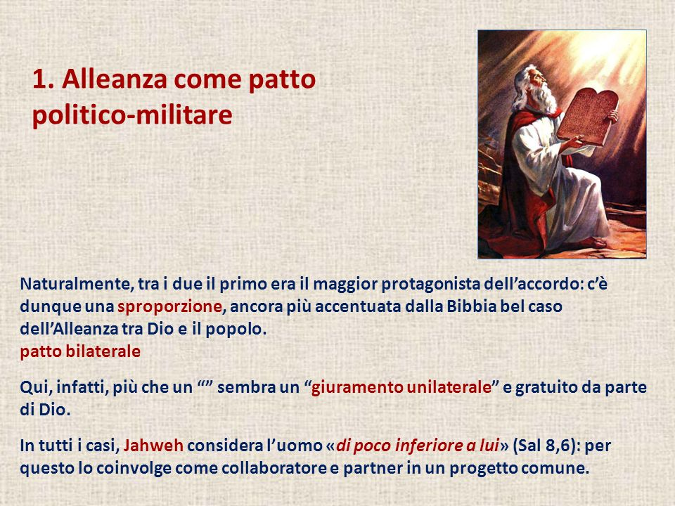 1. Alleanza come patto politico-militare