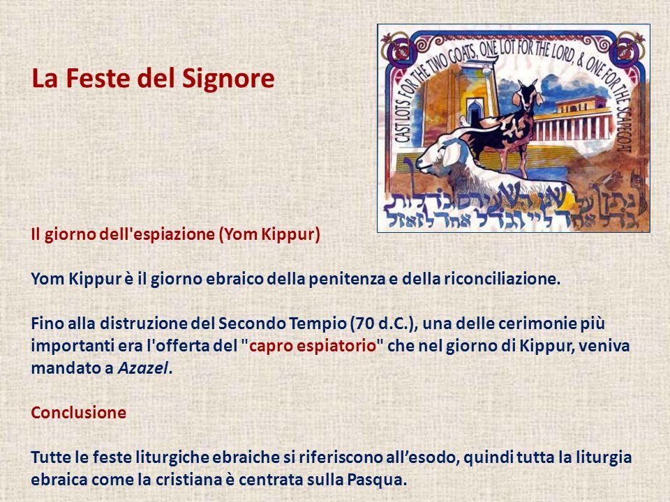 La Feste del Signore Il giorno dell espiazione (Yom Kippur)