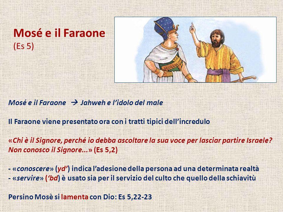 Mosé e il Faraone (Es 5) Mosé e il Faraone  Jahweh e l'idolo del male