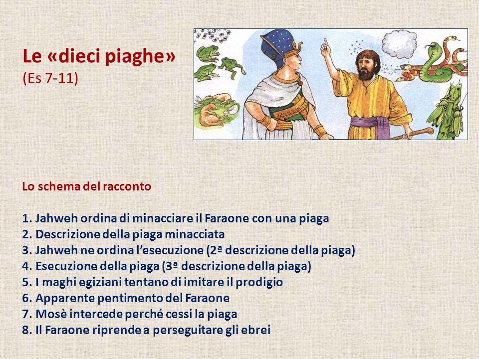 Le «dieci piaghe» (Es 7-11) Lo schema del racconto