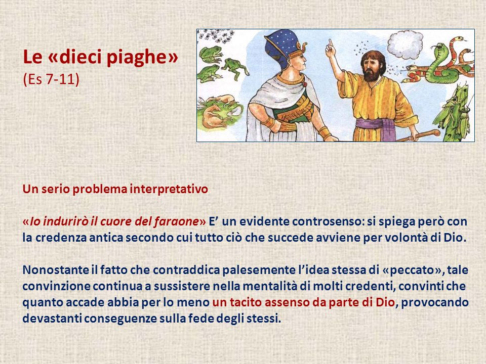 Le «dieci piaghe» (Es 7-11) Un serio problema interpretativo