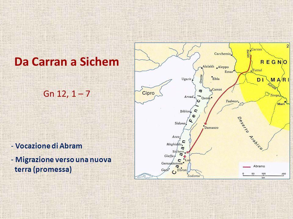 Da Carran a Sichem Gn 12, 1 – 7 Vocazione di Abram
