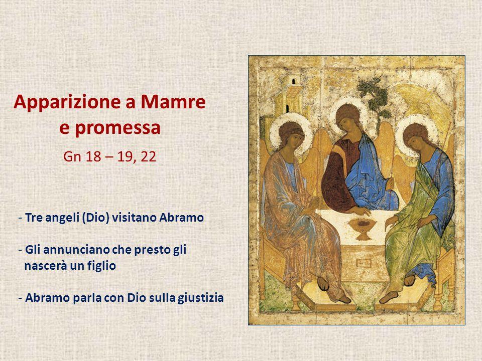 Apparizione a Mamre e promessa Gn 18 – 19, 22